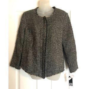 New Liz Claiborne Tweed Jacket